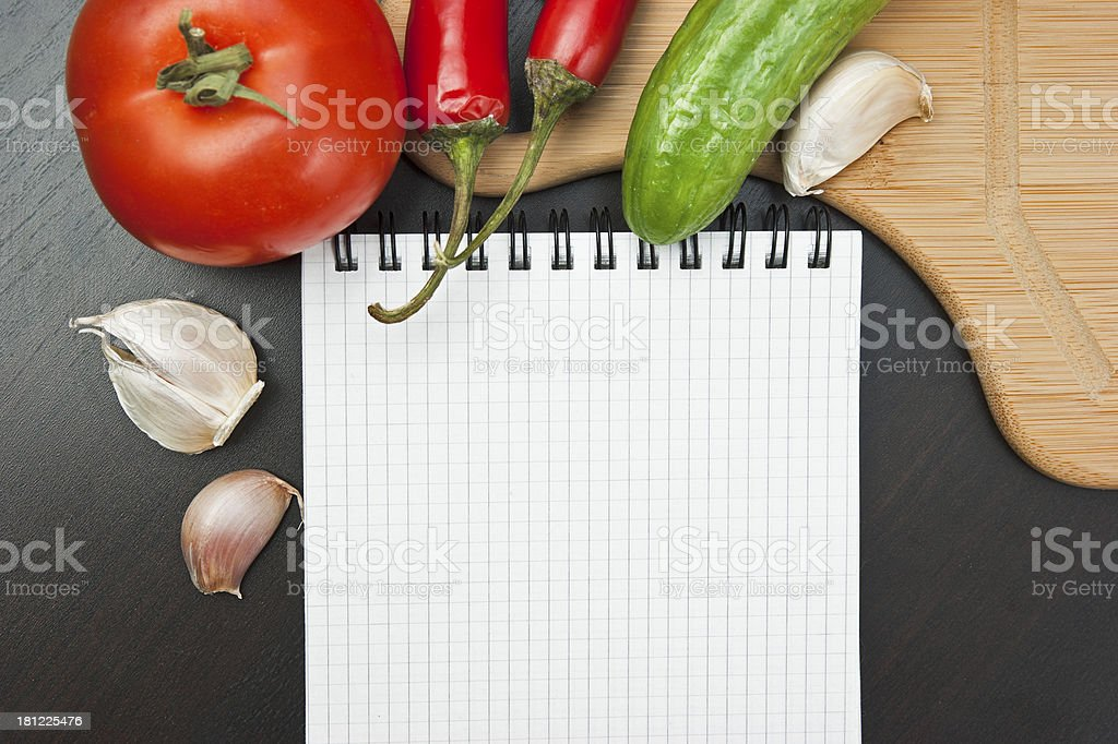 vegetables and cooking utensils royalty-free stock photo