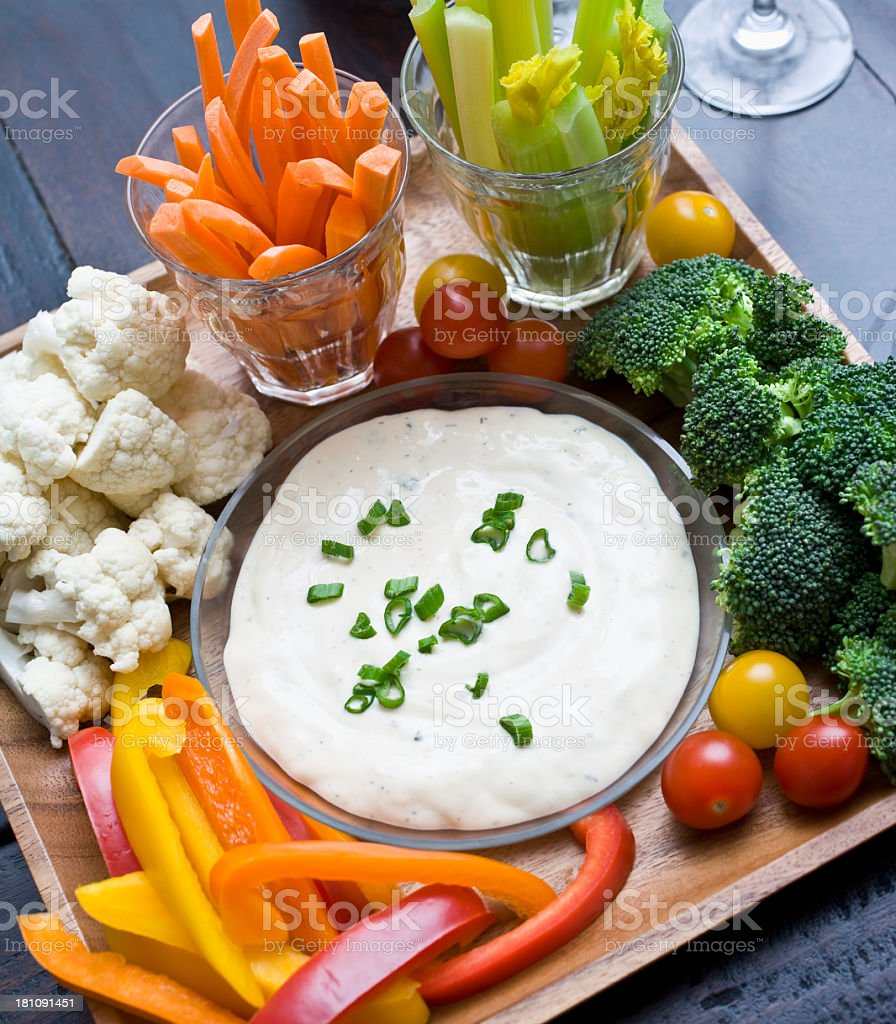 Vegetables and Dip royalty-free stock photo