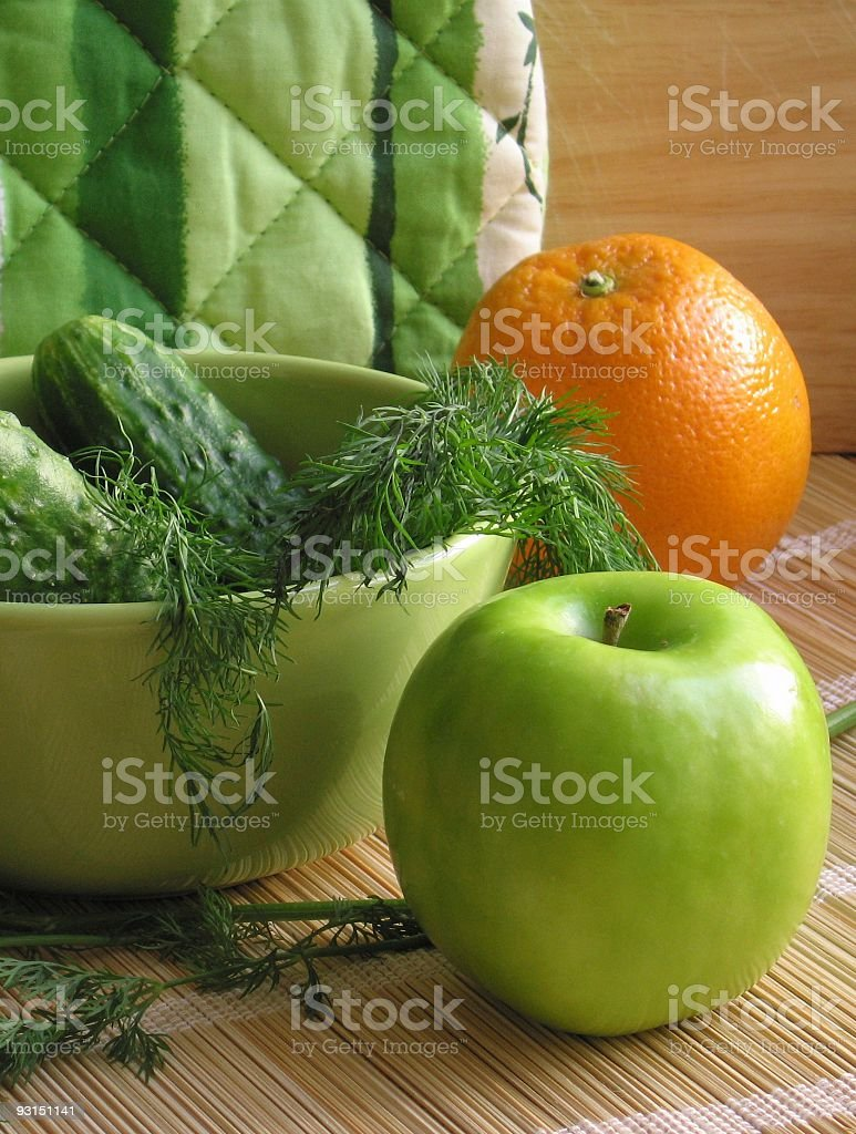 Vegetables and fruit royalty-free stock photo