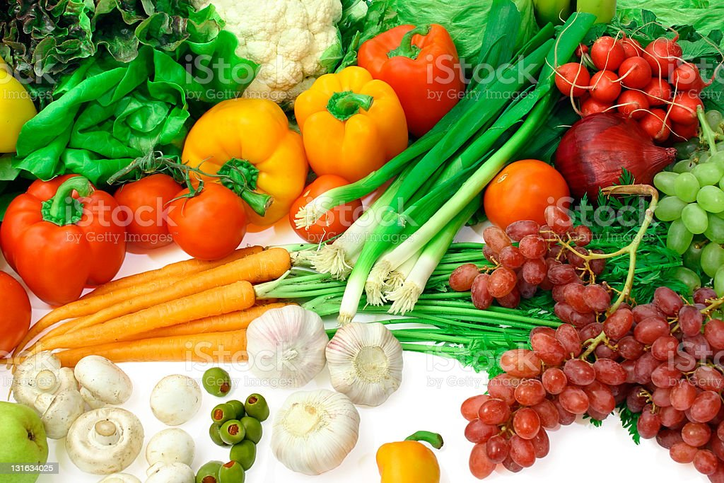 Vegetables and Fruits Arrangement 3 royalty-free stock photo
