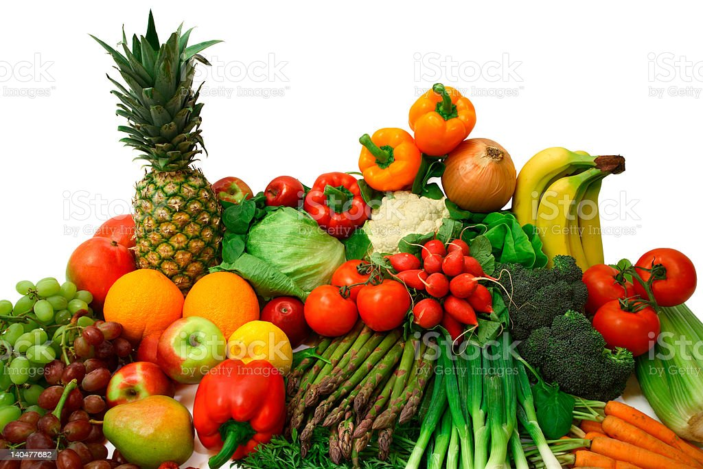 Vegetables and Fruits Arrangement royalty-free stock photo