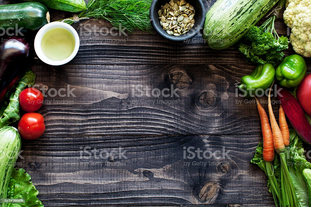 Vegetables and greens stock photo