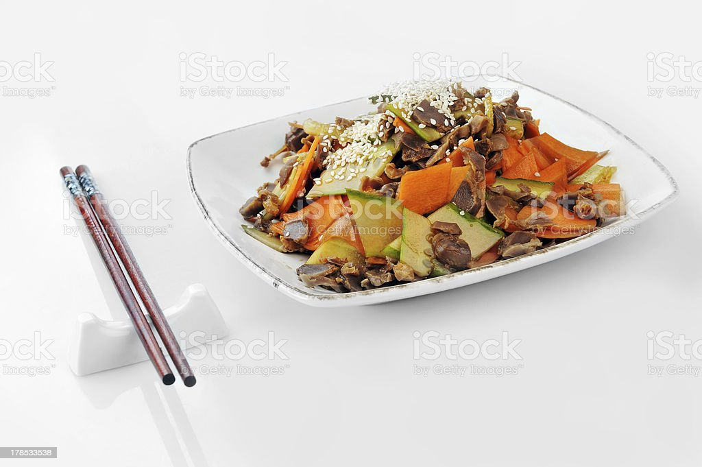 vegetables and  meat royalty-free stock photo