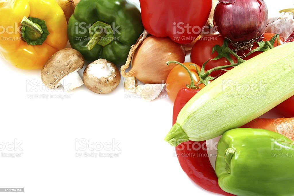 Vegetables and mushrooms. royalty-free stock photo