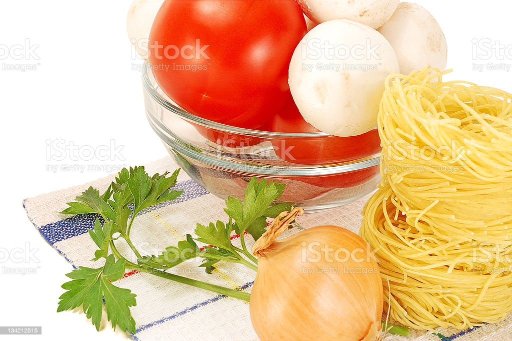 vegetables and pasta royalty-free stock photo