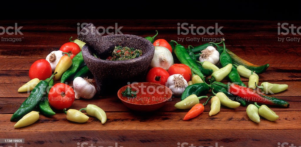 Vegetables and Salsa stock photo