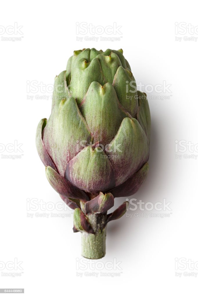 Vegetables: Artichoke Isolated on White Background stock photo