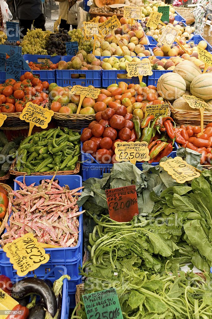 Vegetables at Campo dei Fiori in Rome royalty-free stock photo