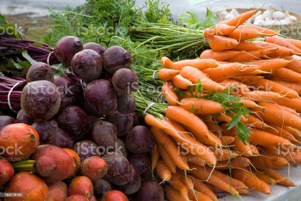 Vegetables at Farmers Market royalty-free stock photo