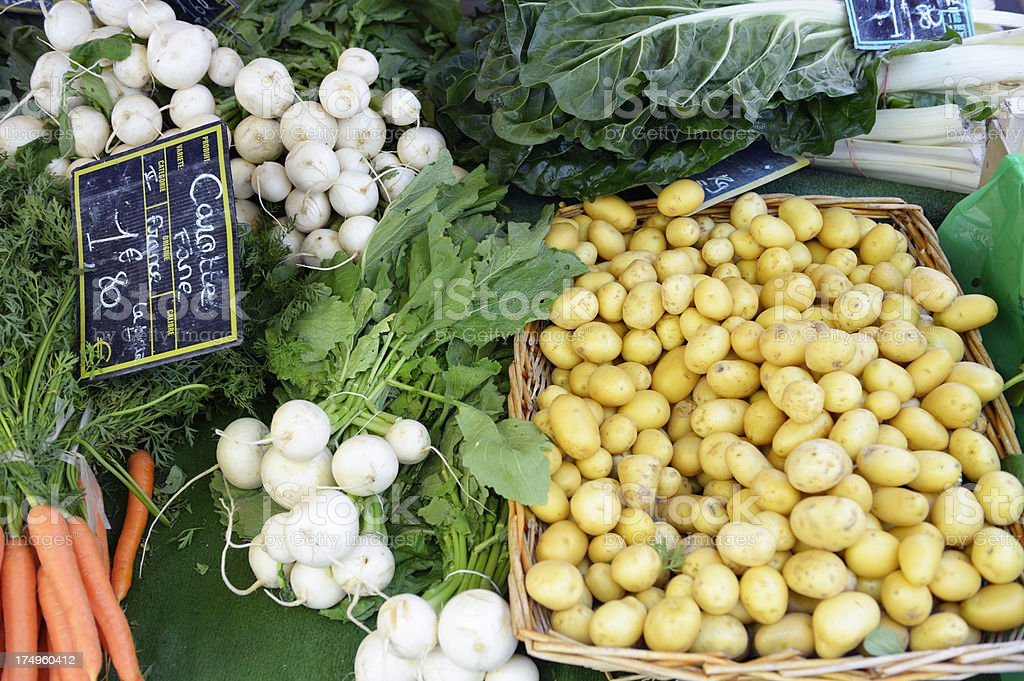 Vegetables at the market royalty-free stock photo