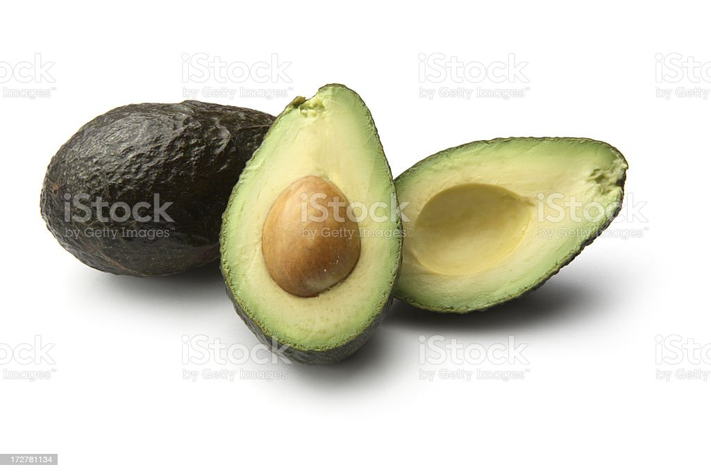 Vegetables: Avocado Isolated on White Background royalty-free stock photo