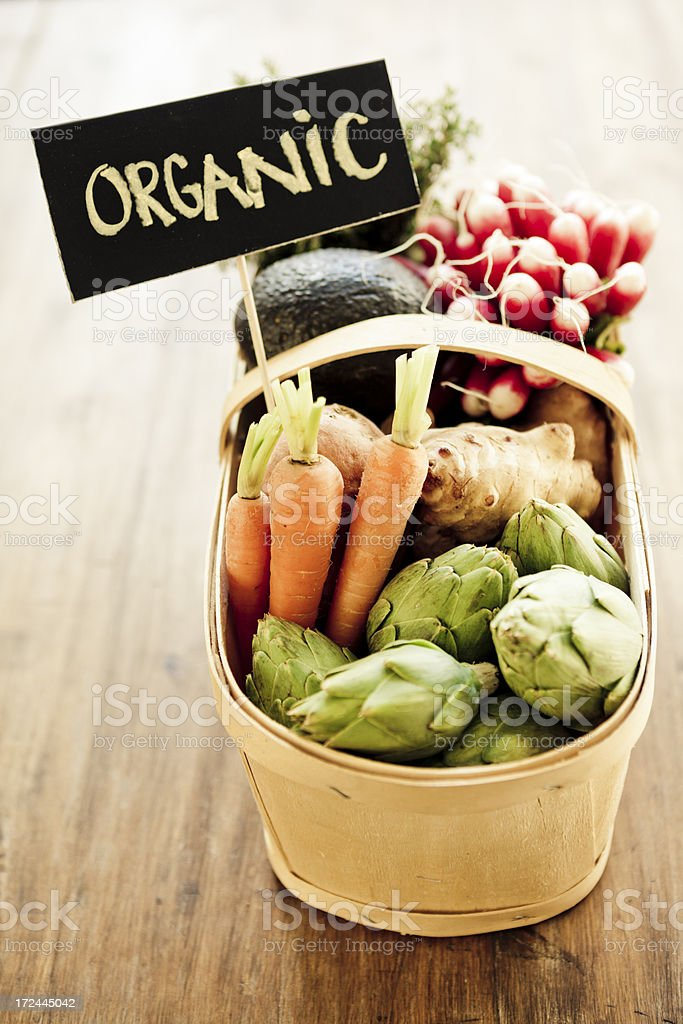 Vegetables basket royalty-free stock photo