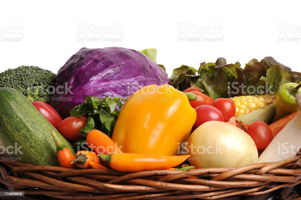 vegetables basket. royalty-free stock photo