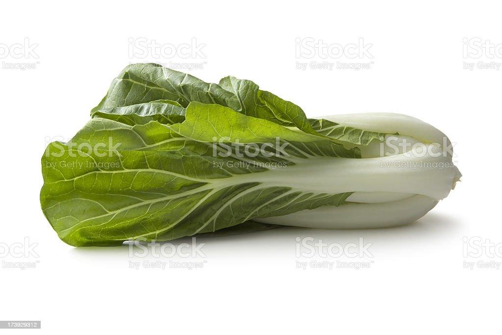 Vegetables: Bok Choy Isolated on White Background stock photo