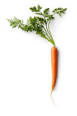 Vegetables: Carrot Isolated on White Background