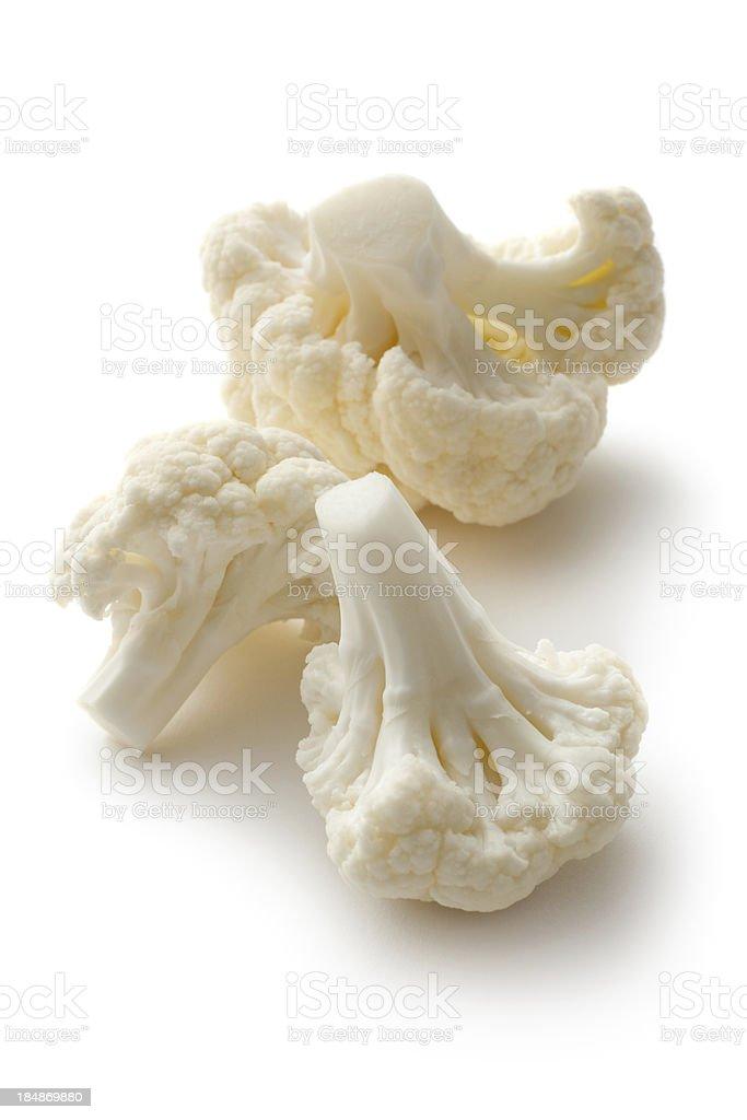 Vegetables: Cauliflower Isolated on White Background royalty-free stock photo