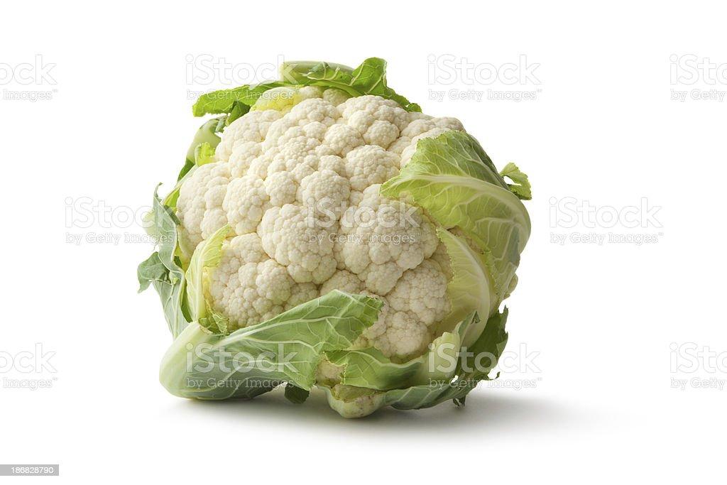 Vegetables: Cauliflower stock photo
