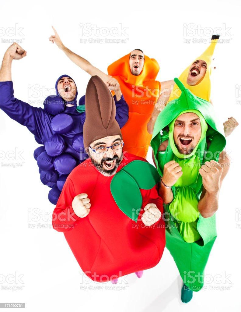 Vegetables celebrating royalty-free stock photo