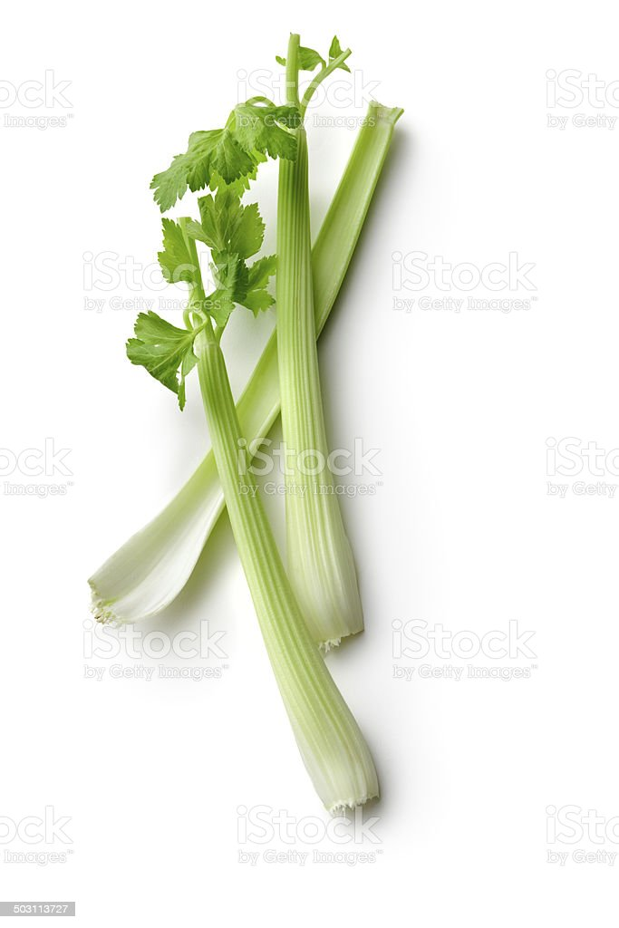 Vegetables: Celery Isolated on White Background stock photo