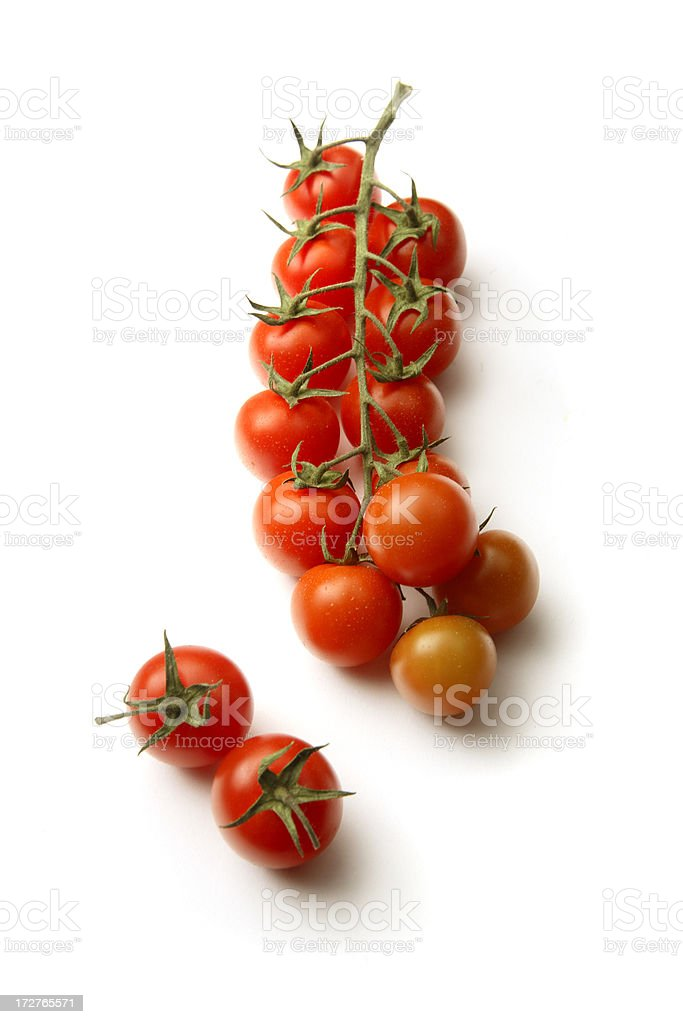 Vegetables: Cherry Tomato Isolated on White Background royalty-free stock photo