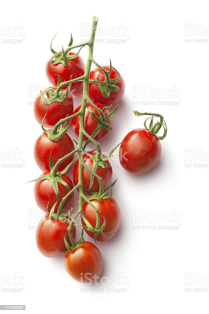 Vegetables: Cherry Tomato Isolated on White Background stock photo
