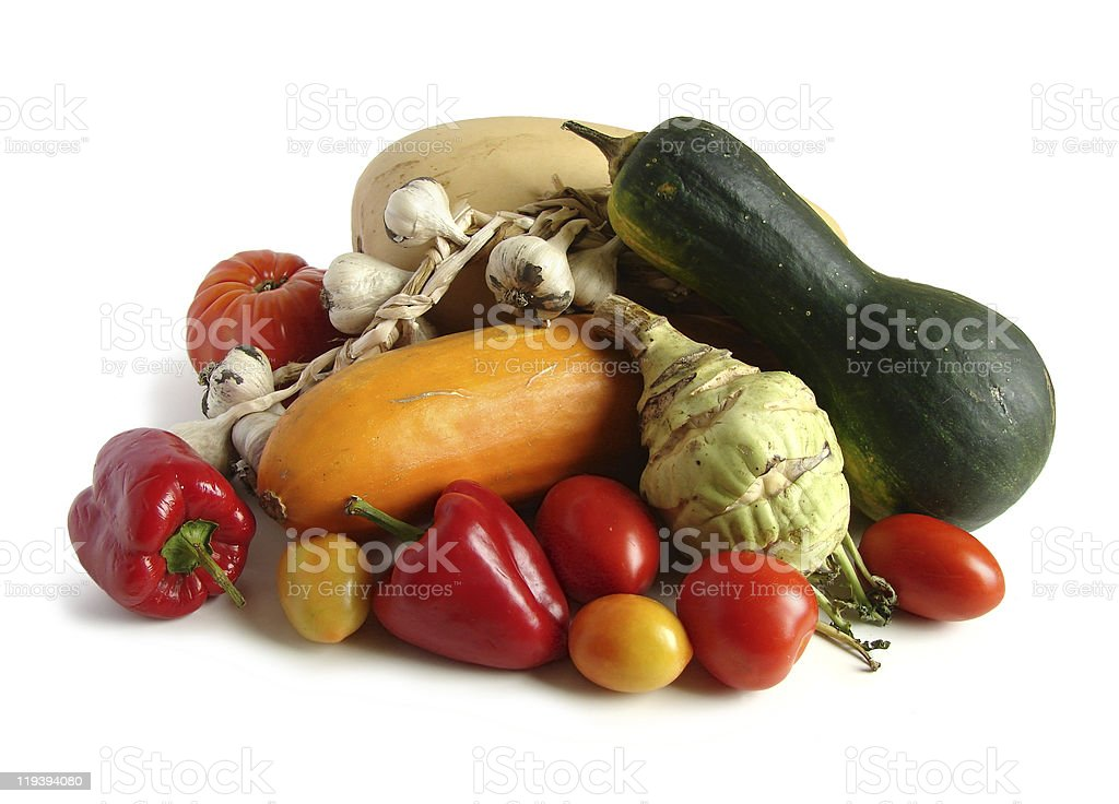 Vegetables close up on white royalty-free stock photo