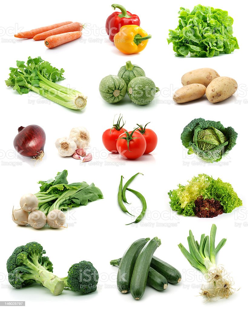 Vegetables collection stock photo