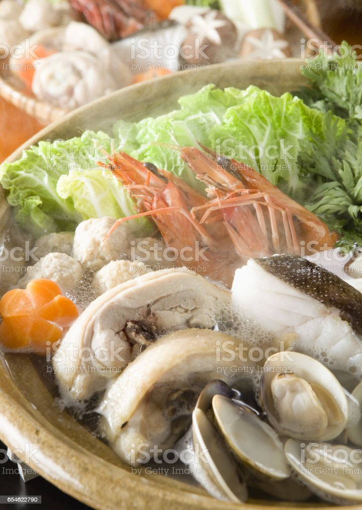 Vegetables cooked in casserole stock photo