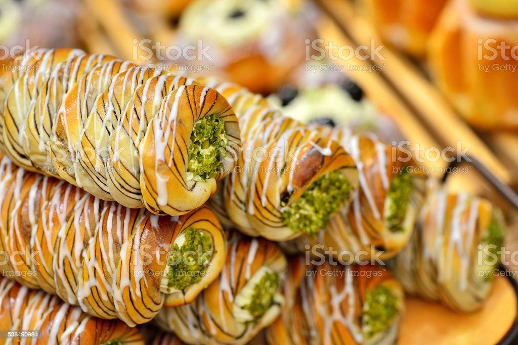 Vegetables Cream Roll Bread stock photo