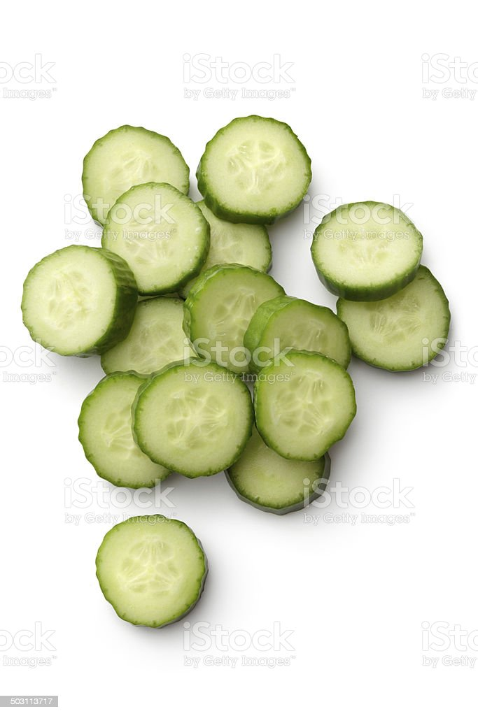 Vegetables: Cucumber Isolated on White Background stock photo