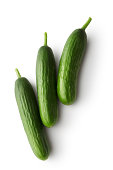 Vegetables: Cucumber Isolated on White Background