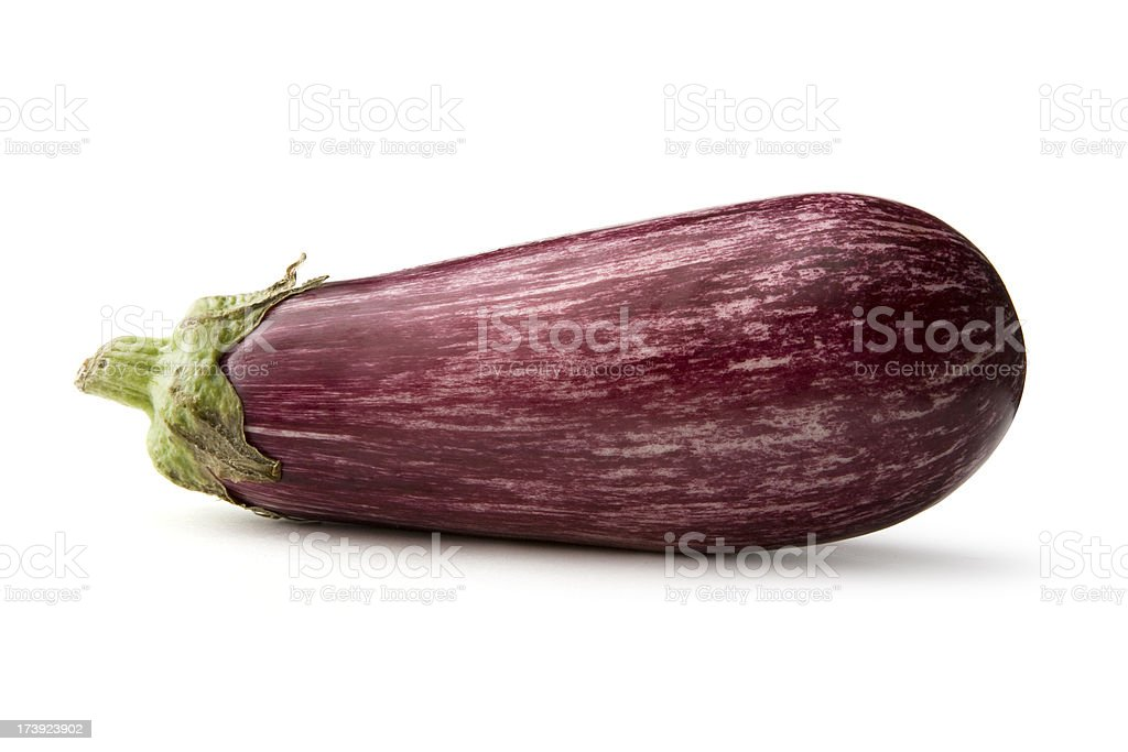 Vegetables: Eggplant Isolated on White Background royalty-free stock photo