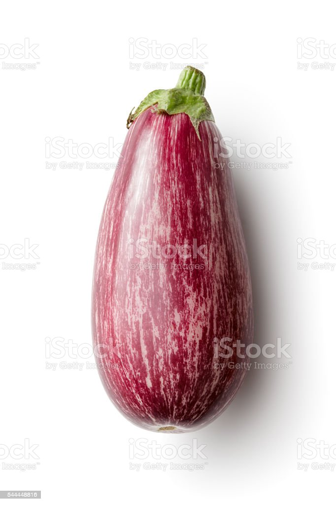 Vegetables: Eggplant Isolated on White Background stock photo