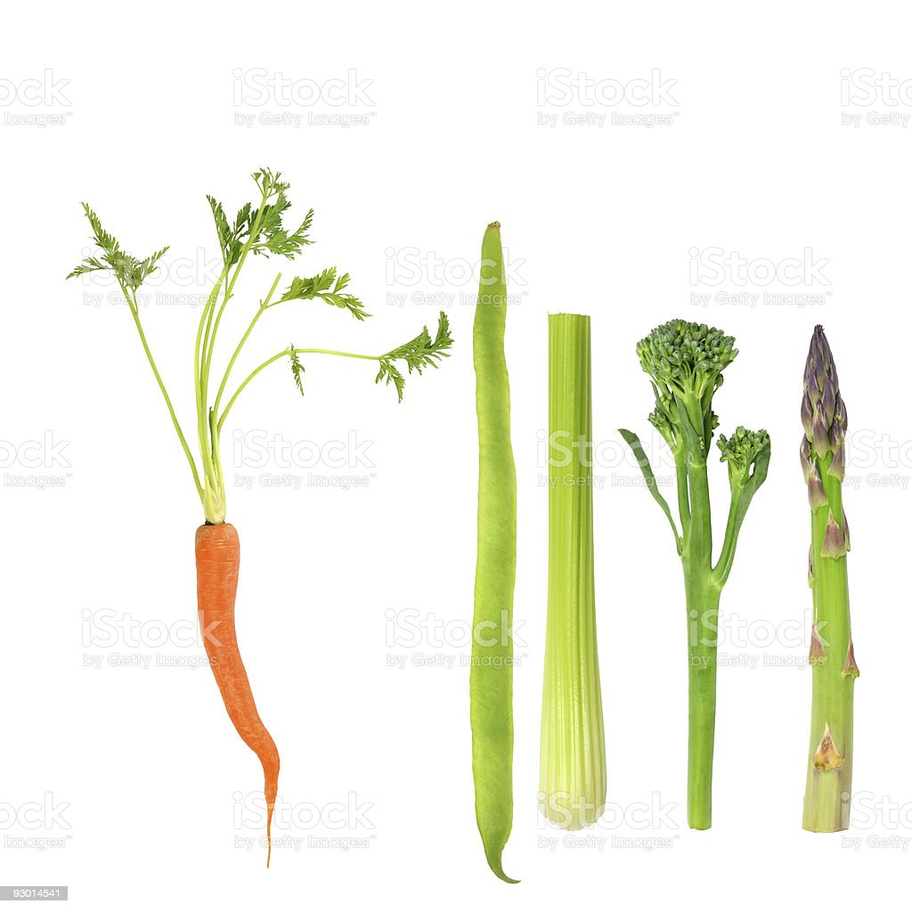 Vegetables, Five a Day royalty-free stock photo
