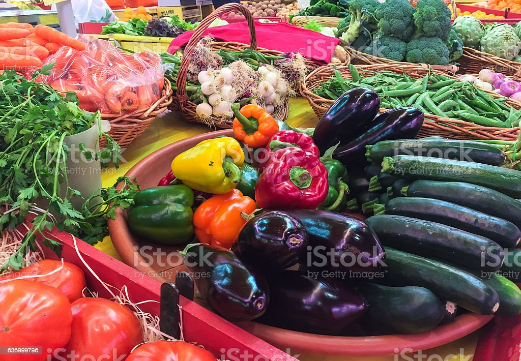 Vegetables for sale stock photo
