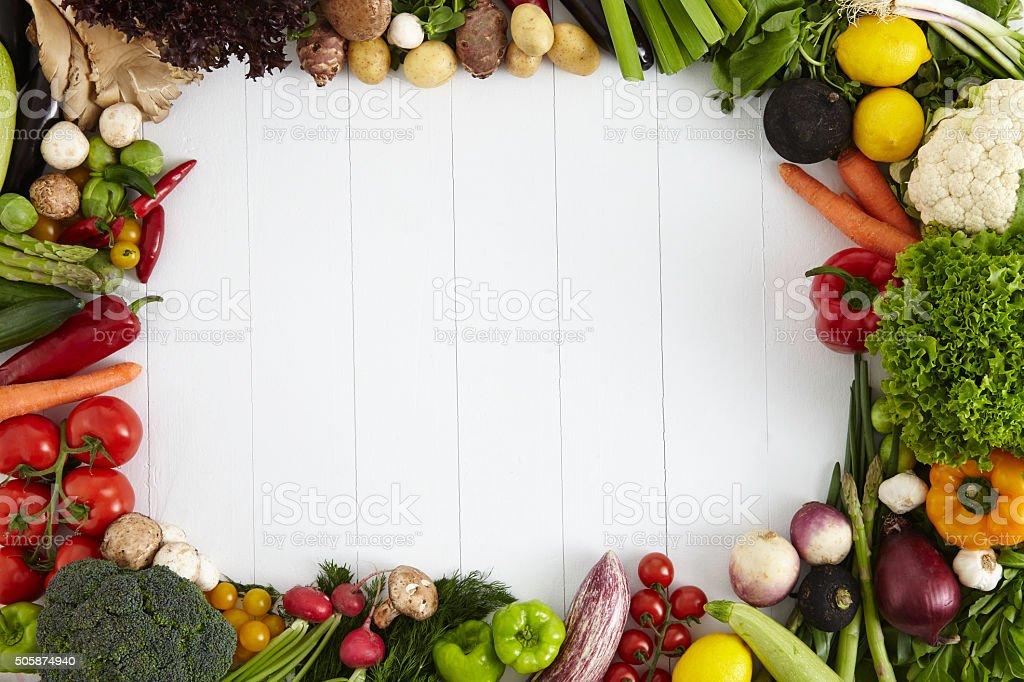 Vegetables Frame stock photo