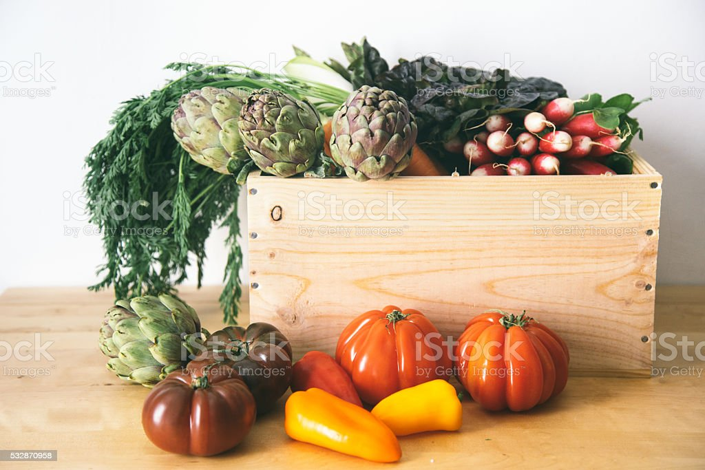 Vegetables from a market stock photo