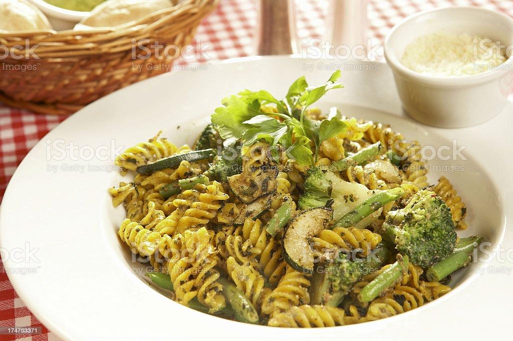 Vegetables fussili stock photo