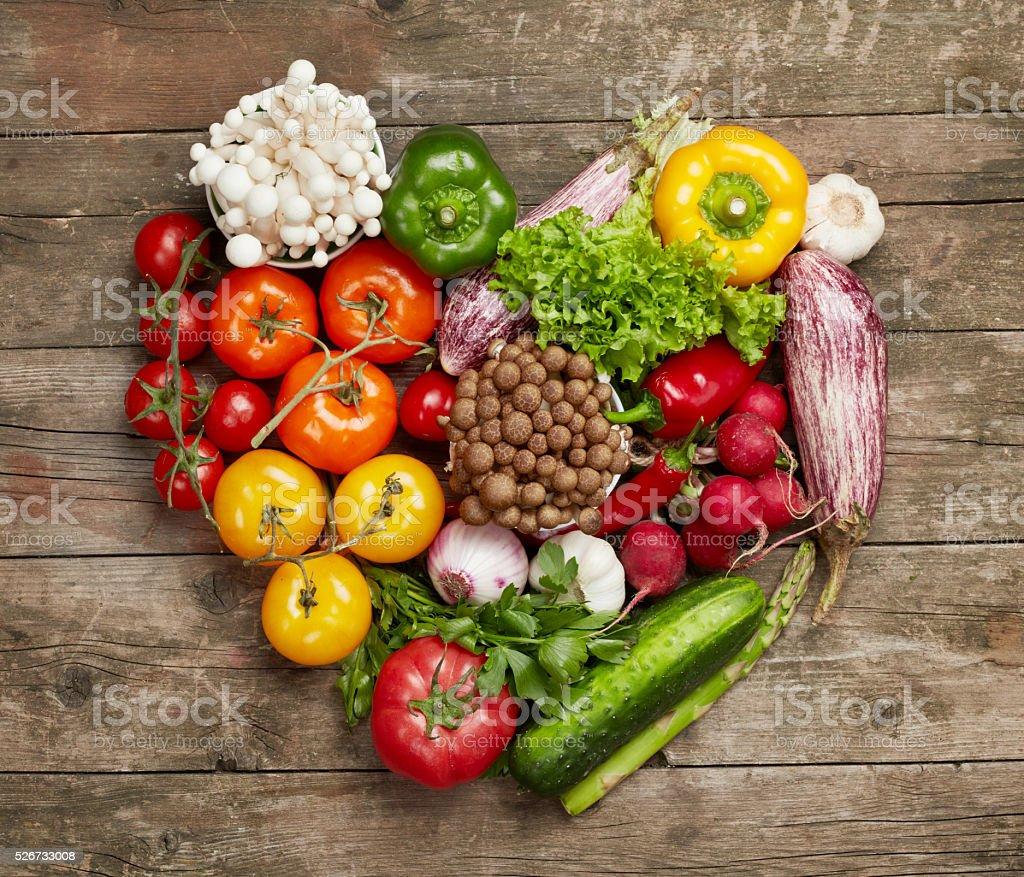 Vegetables heart stock photo