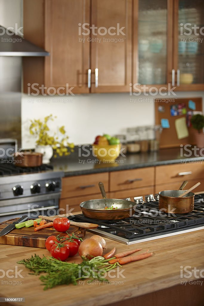 Vegetables in a kitchen royalty-free stock photo