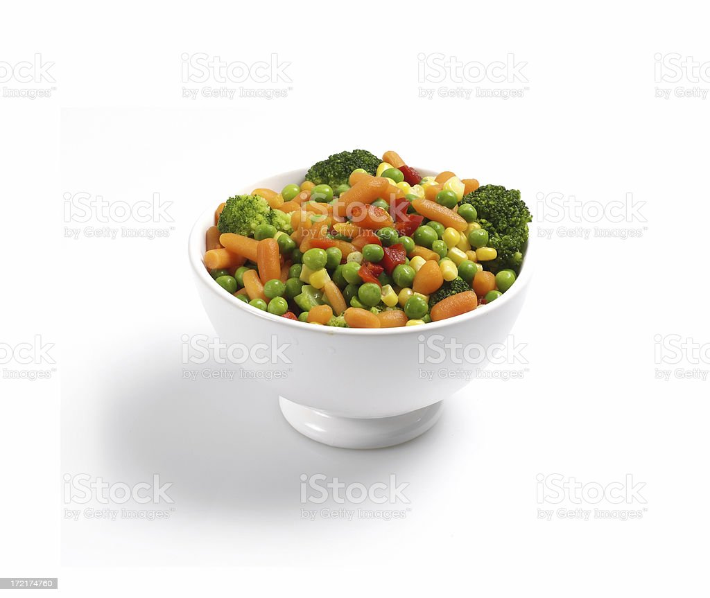 Vegetables in bowl stock photo