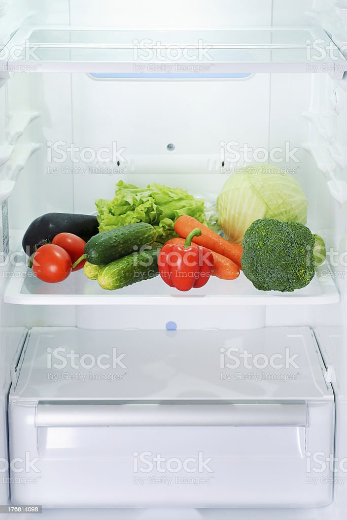 vegetables in refrigerator royalty-free stock photo