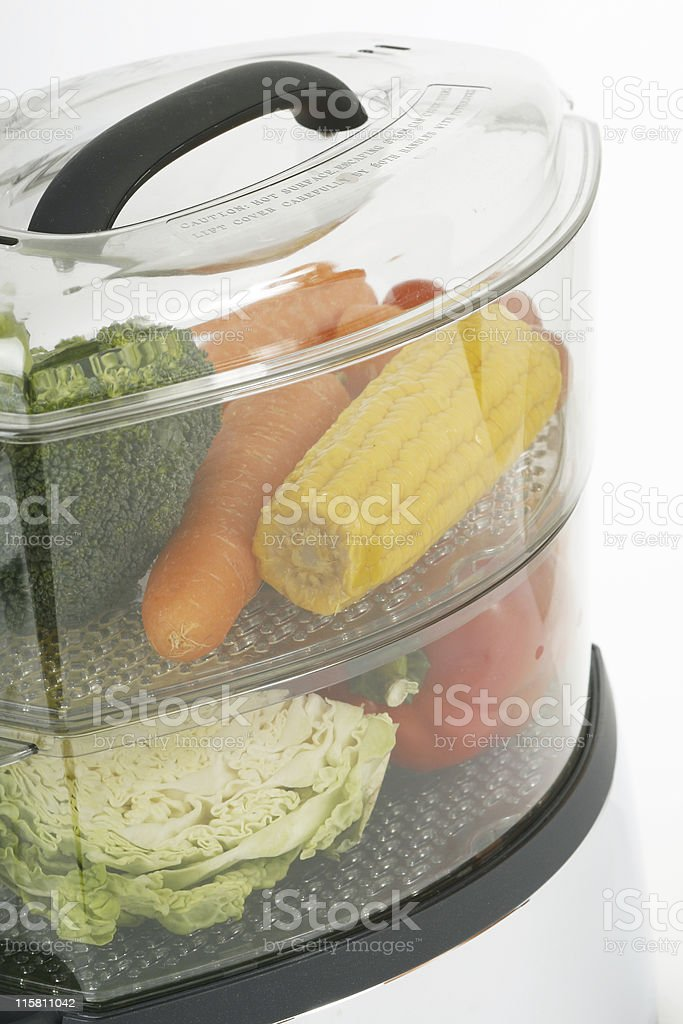 Vegetables in steamer royalty-free stock photo