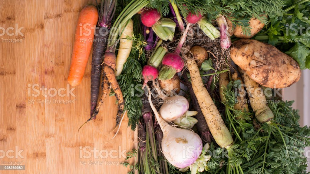 Vegetables ingredients for a lunch. stock photo