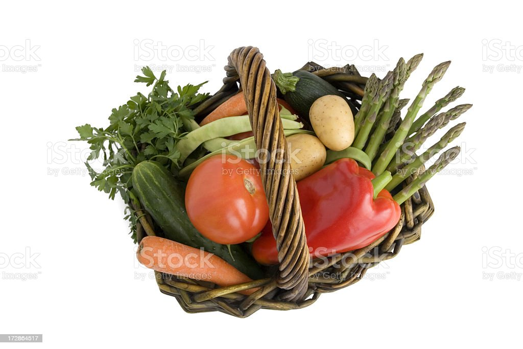 Vegetables into a basket 3. royalty-free stock photo