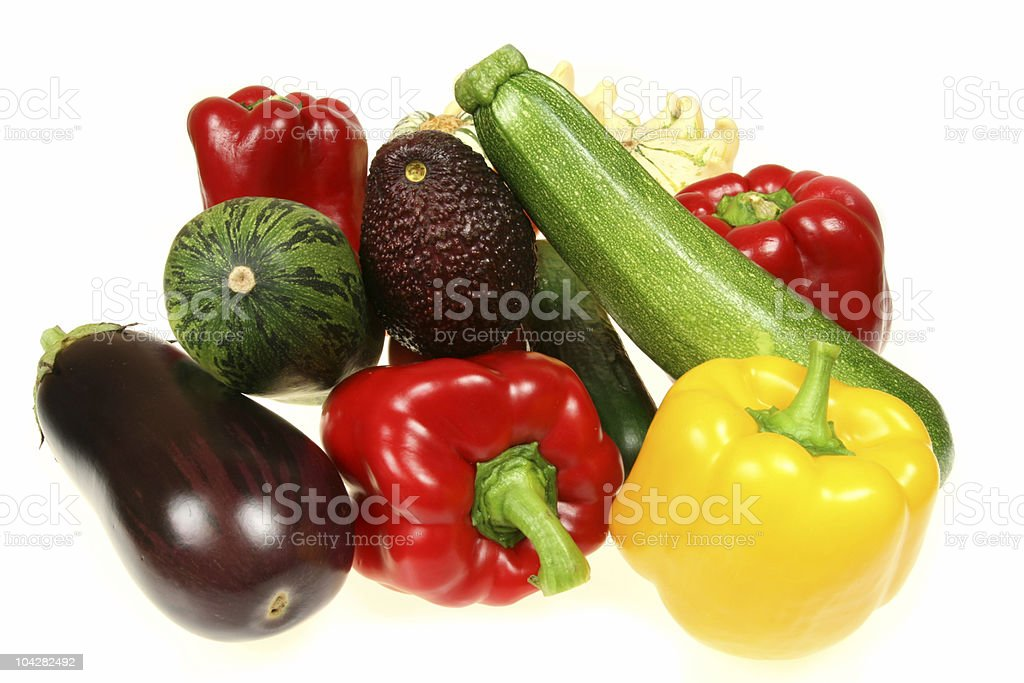 Vegetables isolated royalty-free stock photo