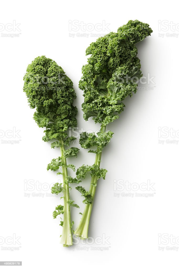 Vegetables: Kale Isolated on White Background stock photo