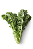 Vegetables: Kale Isolated on White Background