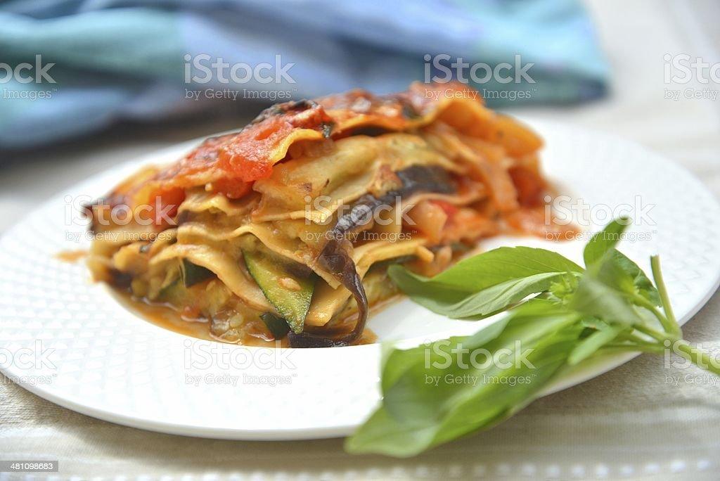Vegetables Lasagne stock photo