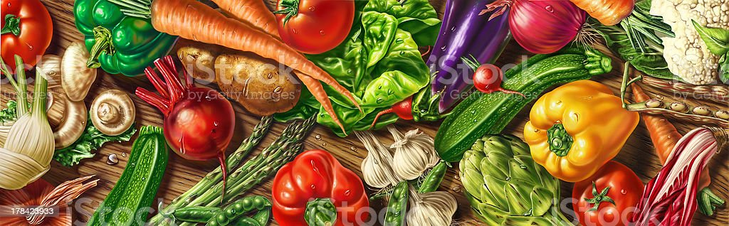 Vegetables laying on the table. royalty-free stock photo